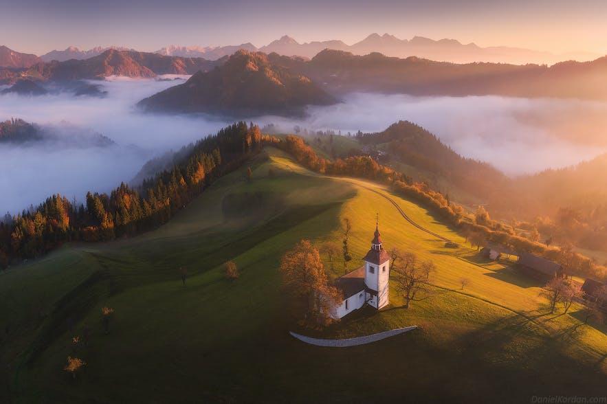 斯洛文尼亚的美丽秋季风光