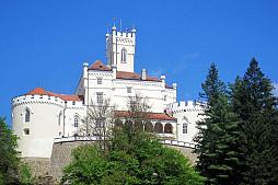 The town Varaždin and Trakošćan castle from Zagreb